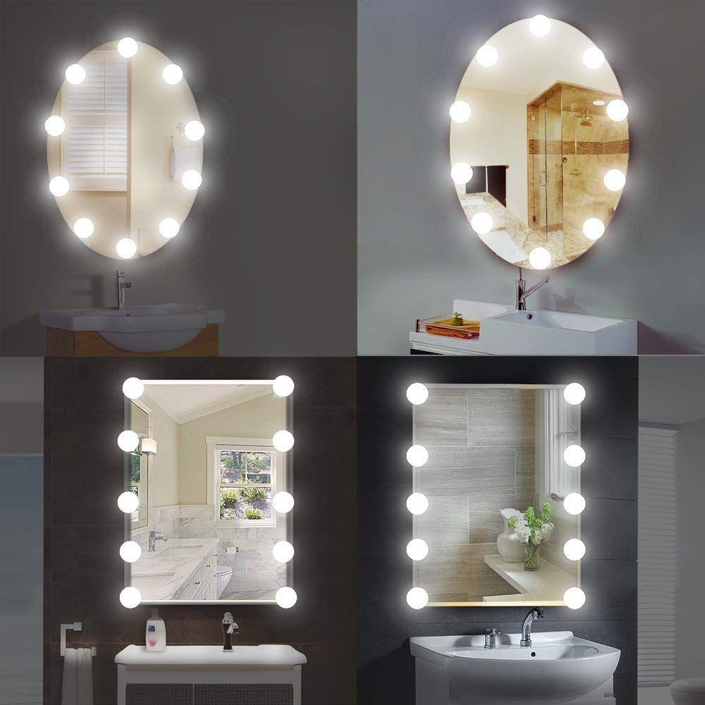 Led Spiegelleuchte 10 Led Spiegelleuchte Schminklicht Hollywood Stil Dimmbar Spiegellampe Make Up Licht Spiegel Beleu Schminkspiegel Schminklicht Spiegellampe
