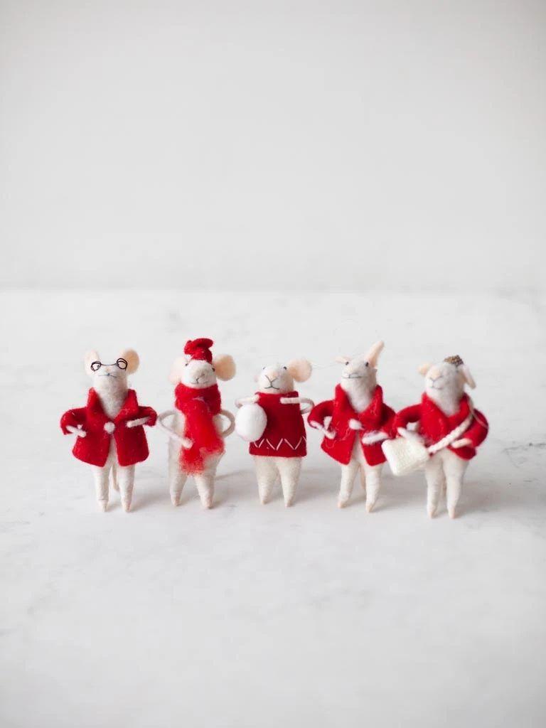 Wool Felt Mouse Ornament Felt Mouse Christmas Traditions Family Wool Felt