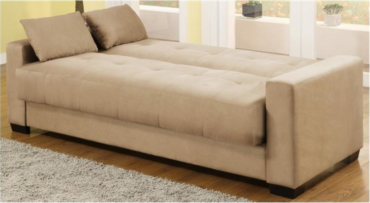 Furniture Captivating Contemporary Sofa Beds Transform Called Napa Convertible Bed In Beech Microsuede Also Brown Laminate Floor And G