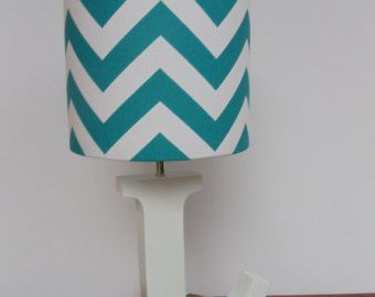Small aquaturquoise and white chevron drum lamp shade nursery small aquaturquoise and white chevron drum lamp shade nursery girls or boys lamp shade aloadofball Choice Image