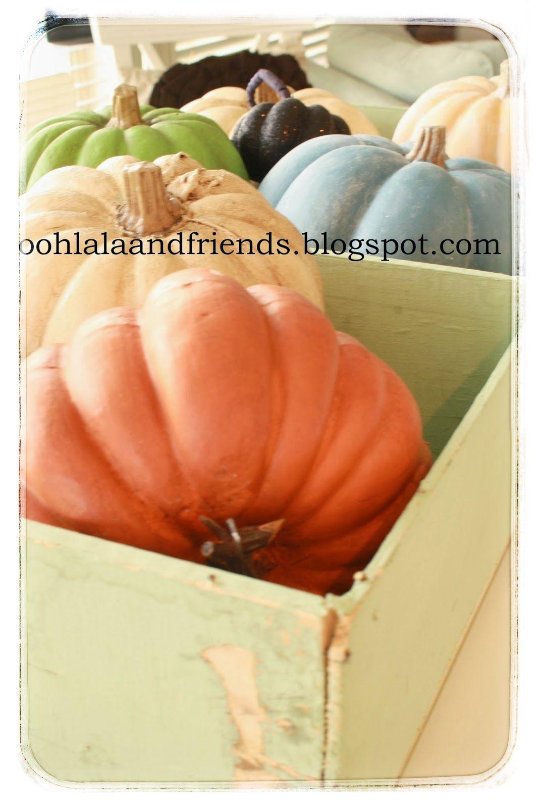 Ooh La La & Friends: Painting Pumpkins with Chalk Paint® @Kirby Shearwood let's chalk paint some pumpkins!