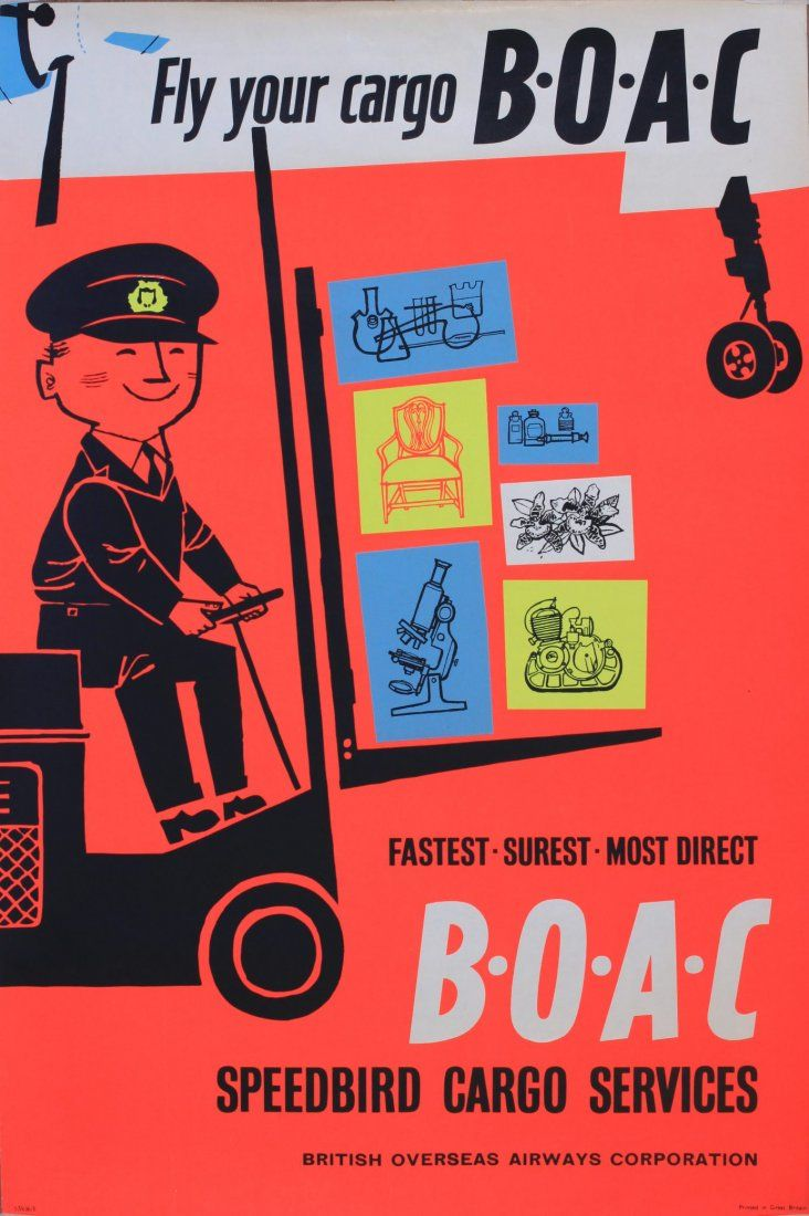 BOAC - Fly Your Cargo - Speedbird Cargo Service - 1957