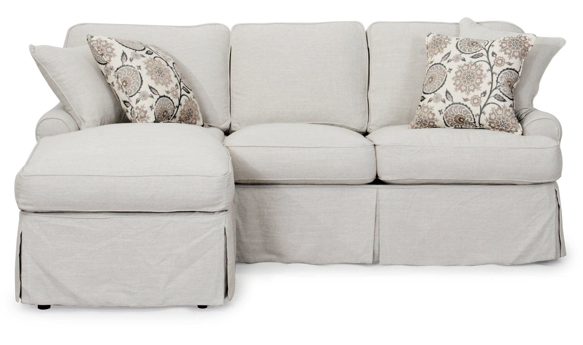 Callie T Cushion Slipcover In 2020 Cushions On Sofa Sectional Sofa Couch Slipcovers