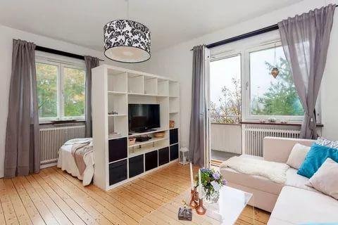 kleine wohnung einrichten einzimmerwohnung wohnideen wohnzimmer - wohnzimmer retro stil