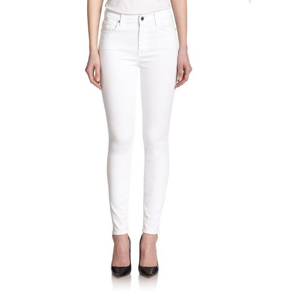 7 For All Mankind High Waist Ankle Jeans White High Waisted Jeans Womens Jeans Skinny Women Jeans