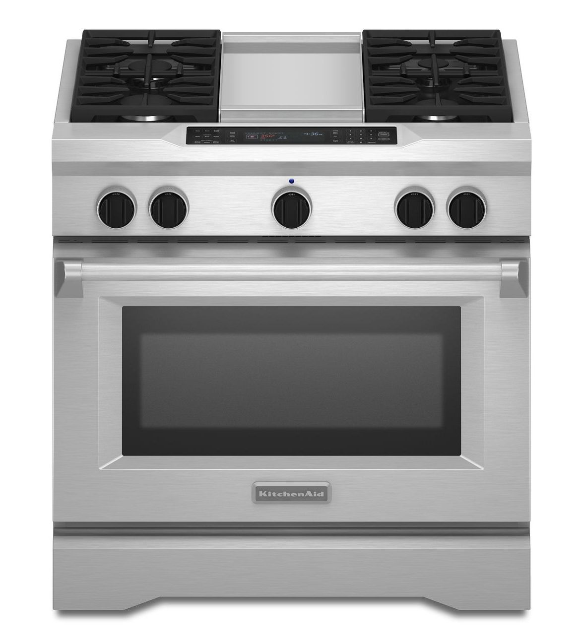 KitchenAid® 36-Inch 4-Burner with Griddle, Dual Fuel Freestanding ...