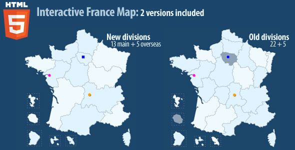 Interactive Map Of France.Interactive Map Of France Html5 Code Scripts And Plugins