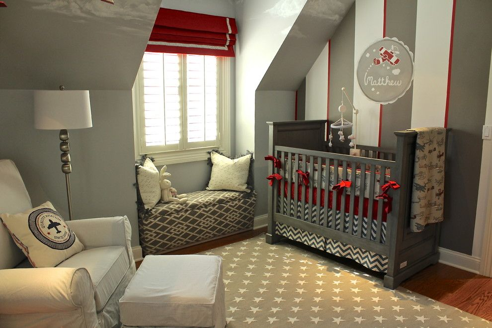 Nice Sumptuous Baby Boy Nursery Themes Mode Chicago Transitional Nursery  Decorating Ideas With Airplanes Aviation Clouds Dark