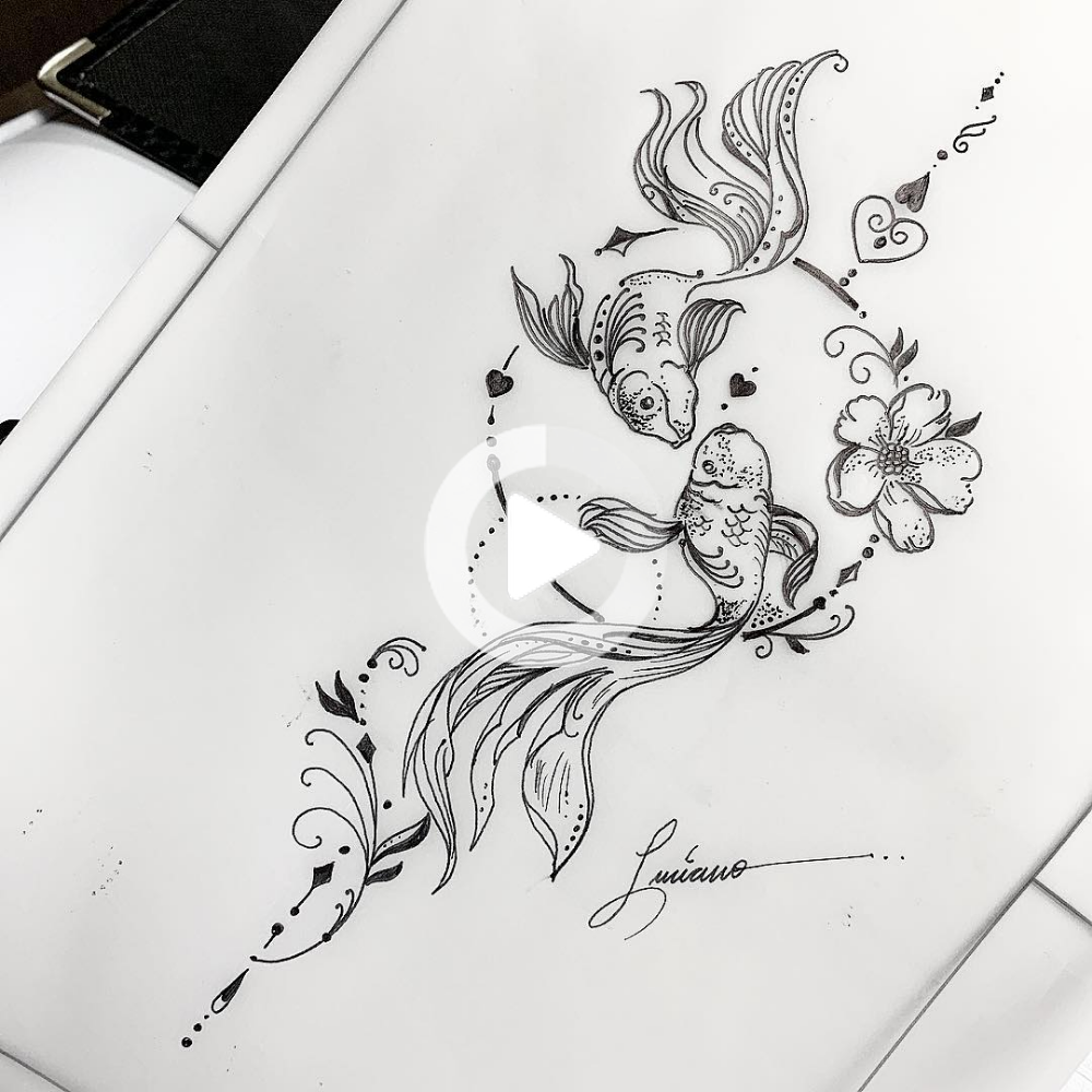 30 Most Popular Hand Drawing Tattoos In 2019 In 2020 Pisces Tattoo Designs Tattoo Drawings Inspirational Tattoos