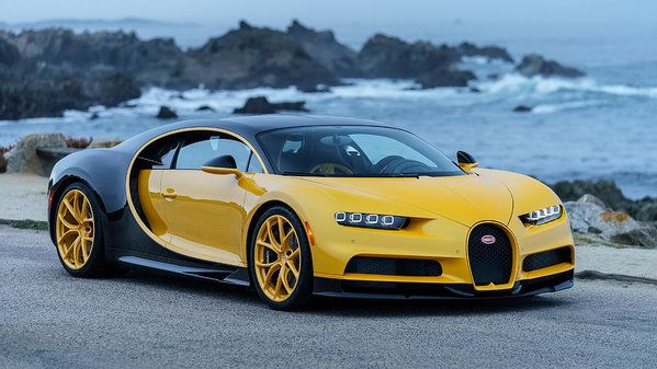 2018 Bugatti Chiron Yellow and Black 4K Poster by Mery Moon