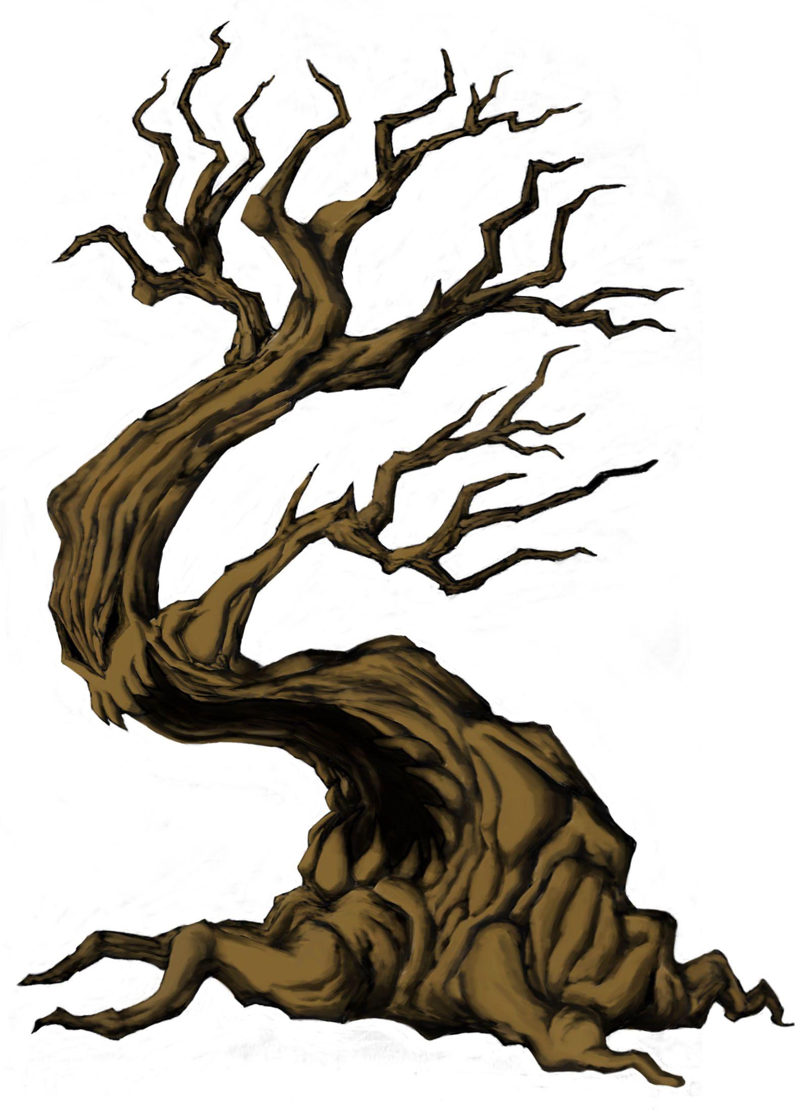 Creepy Tree Art Scary Tree Drawing Untitled creepy