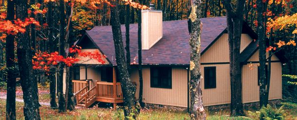 2 Bedroom Cabin $114 Midweek. $139 Weekend. No TV. Wood Burning Fireplaces.