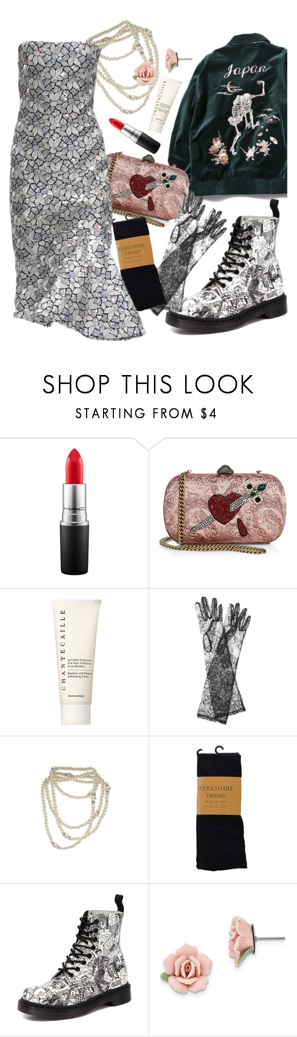 """""""D##$@!"""" by misstao ❤ liked on Polyvore featuring MAC Cosmetics, Gucci, Chantecaille, Dolce&Gabbana, Balenciaga, Dr. Martens and 1928"""