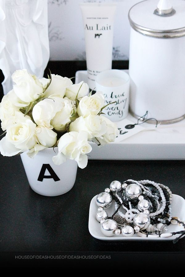 Decoration, letter, maroccan flower http://myhouseofideas.blogspot.de/
