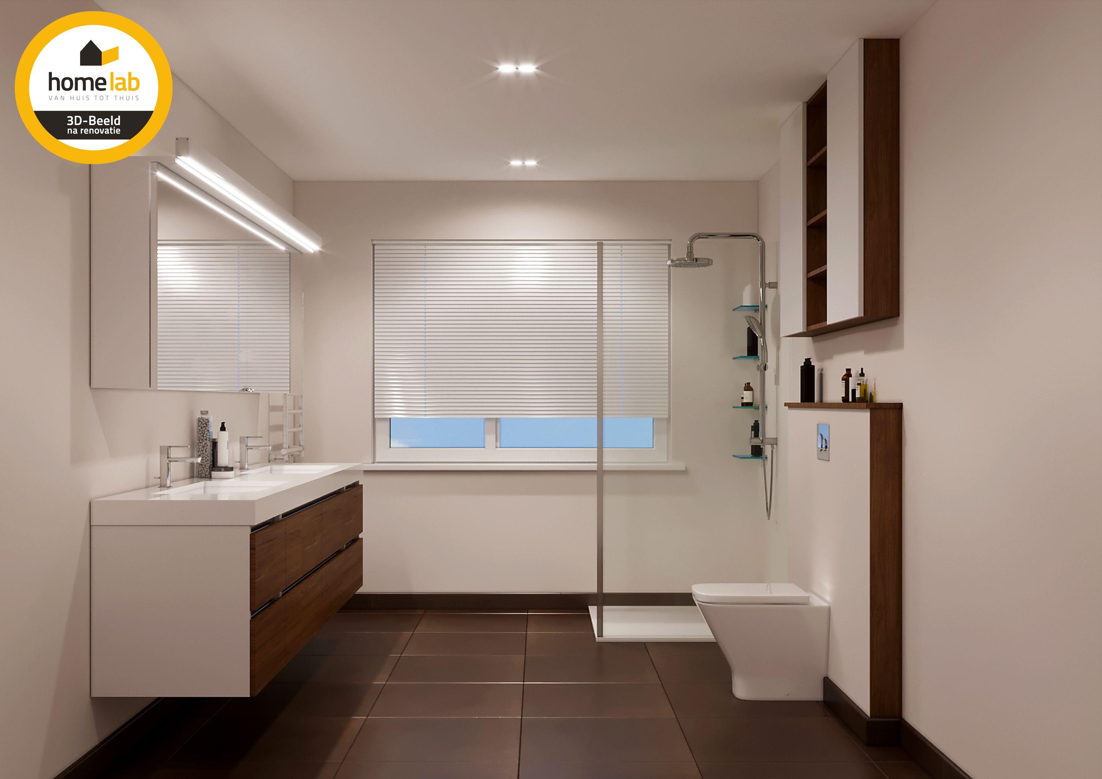 Moderne badkamer met hout afgewerkt homelab homelabprojects