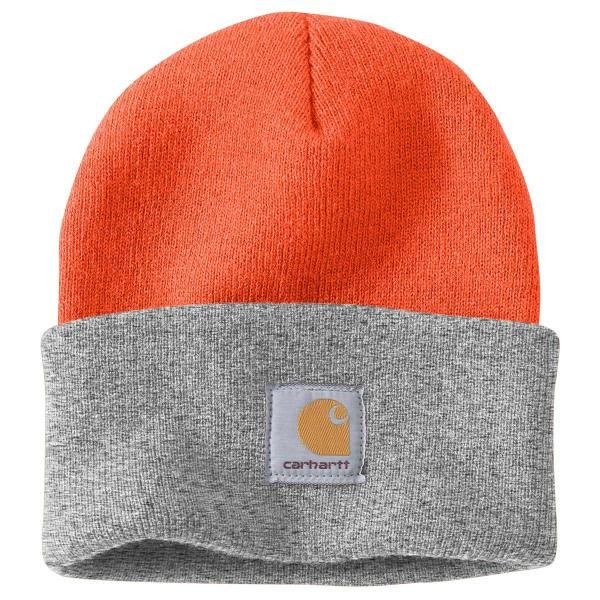 e8073b57a0852 Carhartt Beanie in Brite Orange Heather Grey