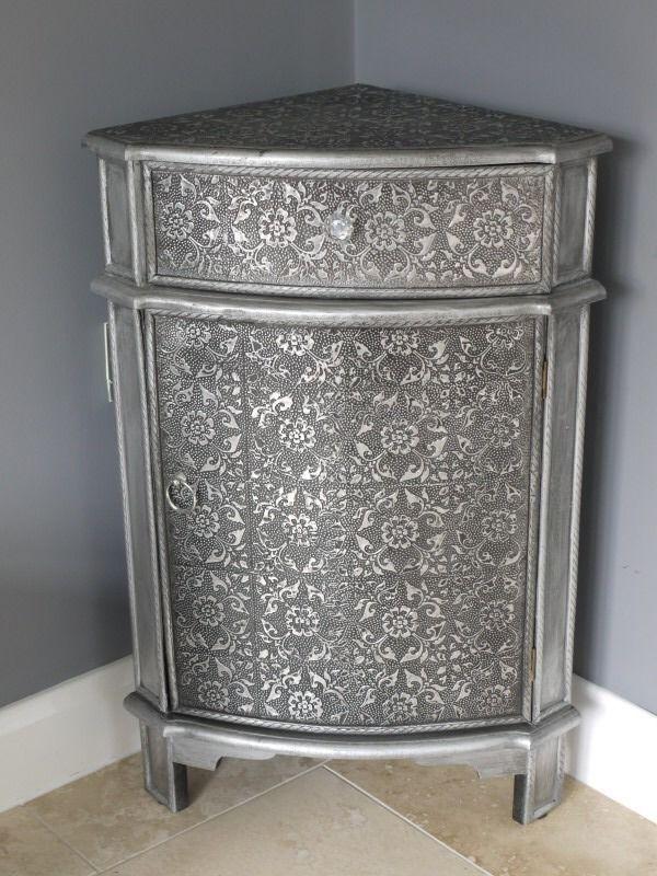 Metal Corner Cabinet   Home Furniture Design