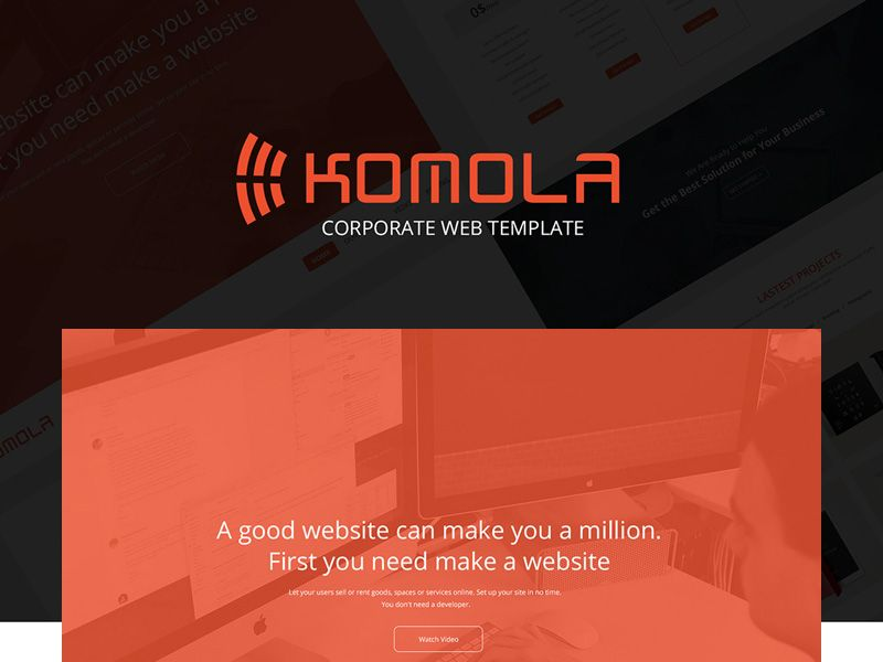 Komola is a smooth and professional one page corporate template. It was designed using a bootstrap grid so that you can easily converted into HTML, WordPress, Joomla or any another CMS.The author of this resource is Towkir Ahmed Bappy.