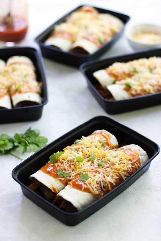 Chicken Enchilada Meal Prep Bowls Eazy Peazy Mealzeazy Peazy Mealz