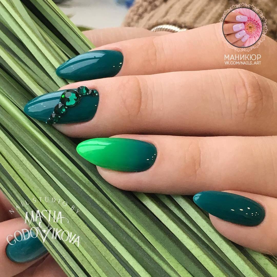 МАНИКЮР | Nails | Pinterest | Diseños de uñas, Verde y Uñas acrílico