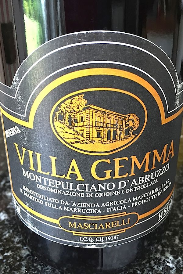 Wine Pairing of the Week 2006 Masciarelli Villa Gemma
