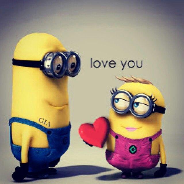 Love you Minions funny, Minions valentines quotes, Minions