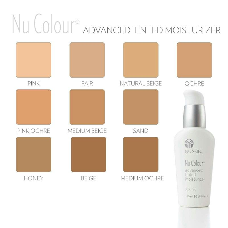 Nu Skin Products: Nu Skin Advanced Tinted Moisturizer Color Chart
