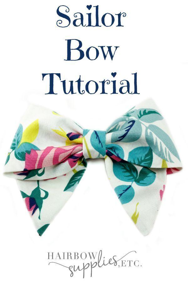 Sailor Hair Bow Tutorial | Diy haarschleife, Nähprojekte ...