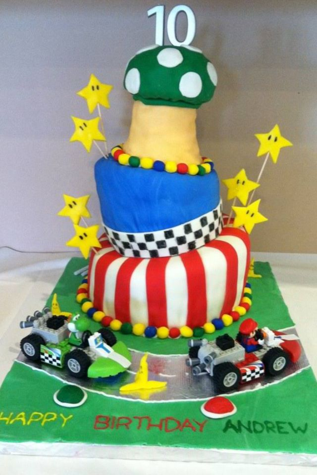 Mario Brothers Cake Happy 10th Birthday Andrew