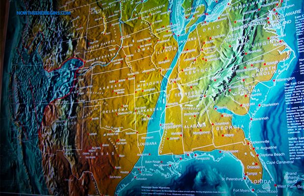 the coming quake its called the new madrid fault line and it is 6 times larger than the san andreas fault in california and covers 7 states