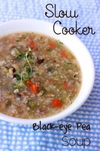 Slow Cooker Black-Eye Pea Soup Recipe