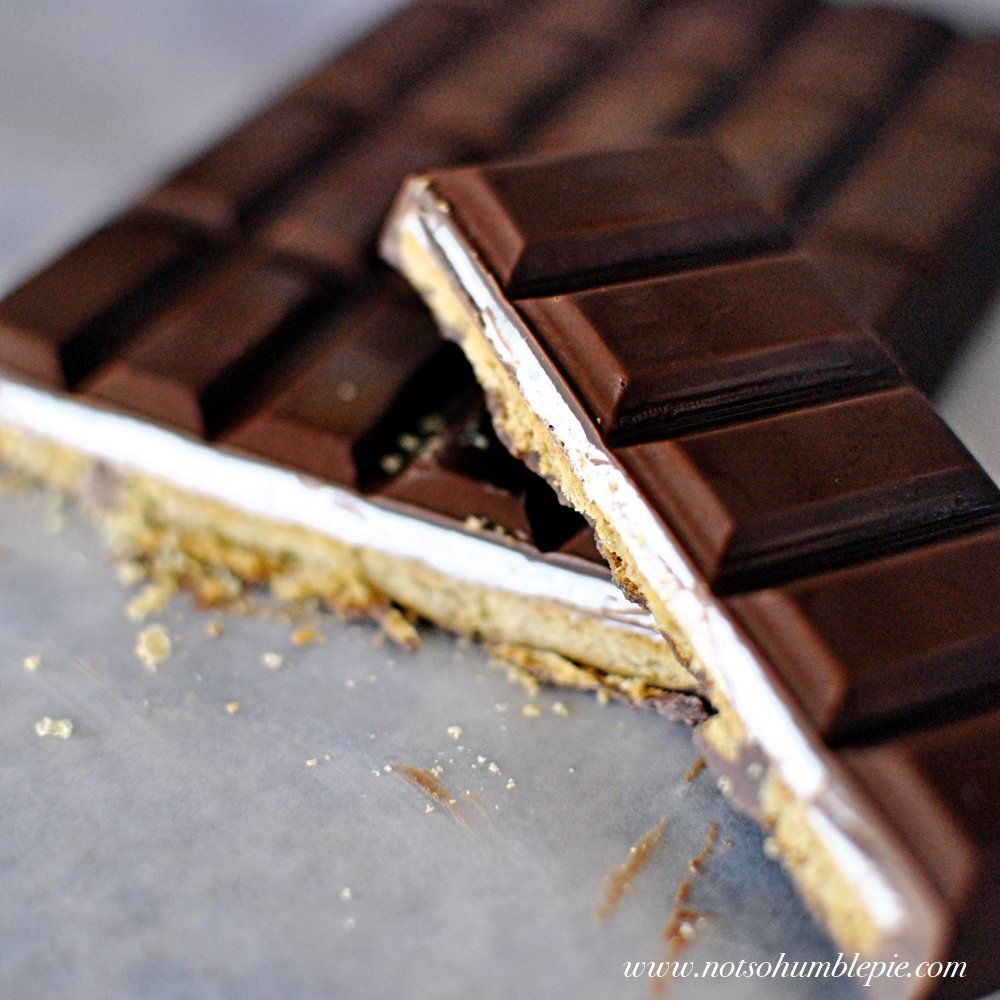 homemade s'mores candy bars