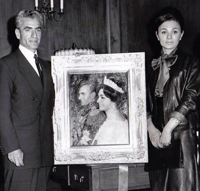 The late mohammad reza shah pahlavi and queen farah for Shah bano farah pahlavi