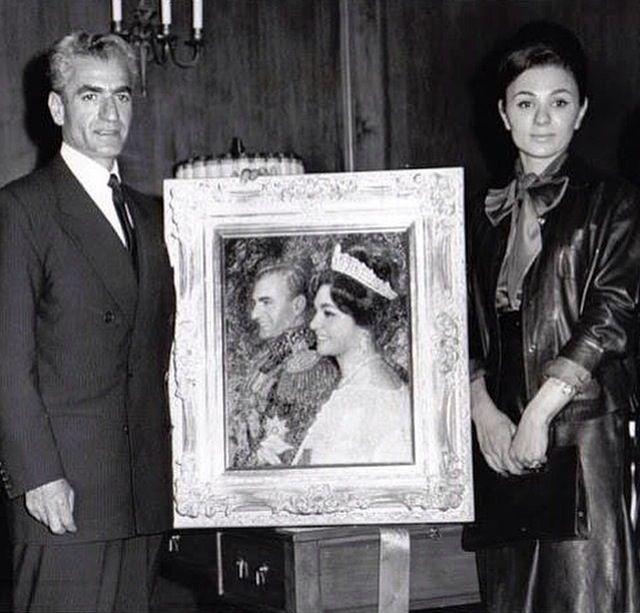The late mohammad reza shah pahlavi and queen farah for Shah bano farah pahlavi
