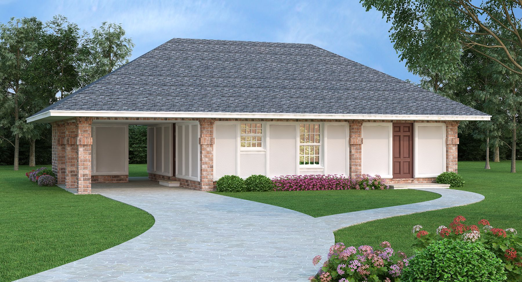 Plan 55159br Affordable Energy Efficient 4 Bed Home Plan Ranch Style House Plans Cottage House Plans Ranch House Plan