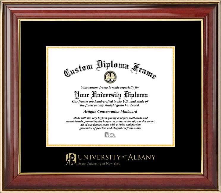 University at Albany, SUNY Diploma Frame - Embossed Seal - Mahogany ...