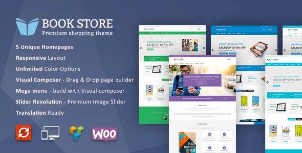 Book Store WordPress WooCommerce Theme | Wordpress eCommerce ...