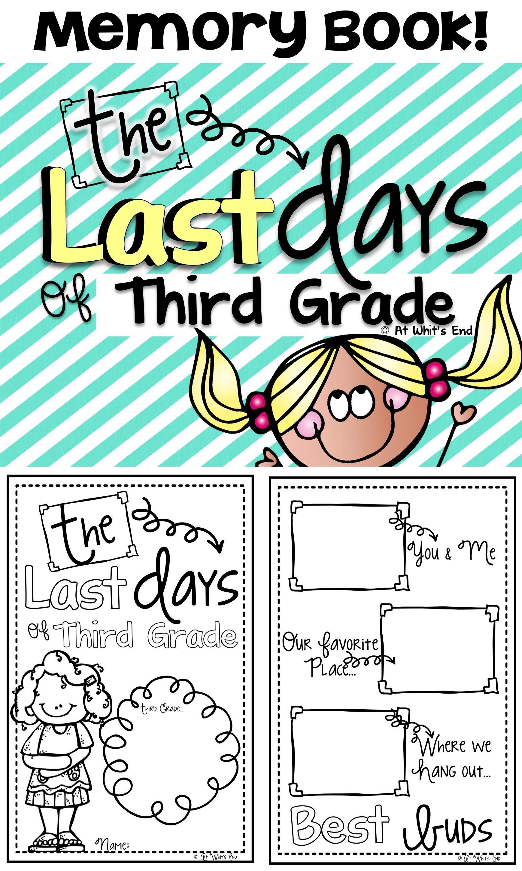 Third Grade Memory Book Last Days Of Third Grade End Of Year