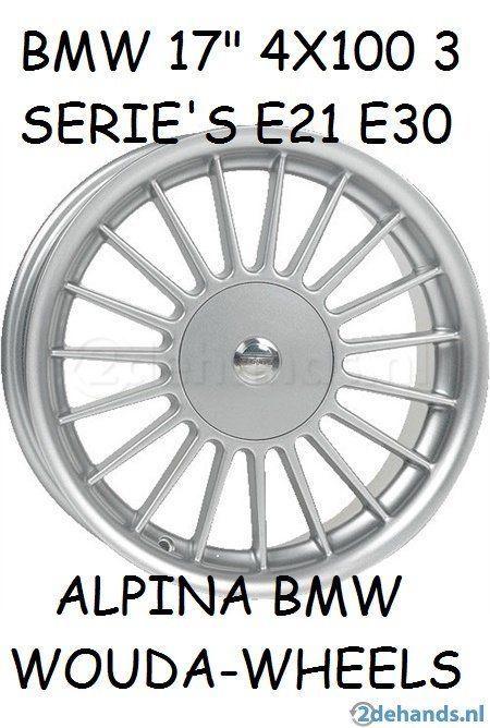 Nieuwe Bmw 3 Serie E21 E30 4x100 Et20 Alpina Velgen 17 Inch
