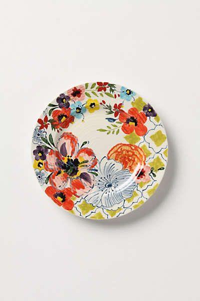 Sissinghurst Castle Dinnerware Anthropologie Plates Side Plates