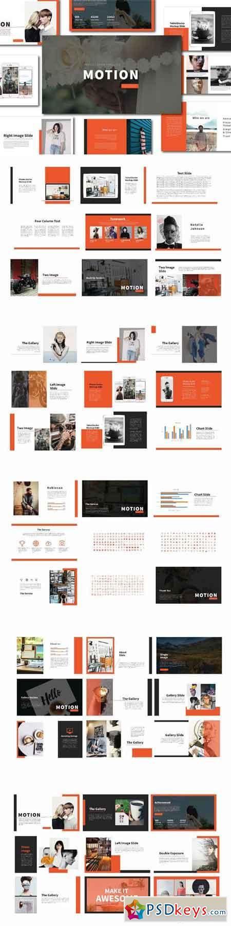 Motion Powerpoint Template Brochures Pinterest Template