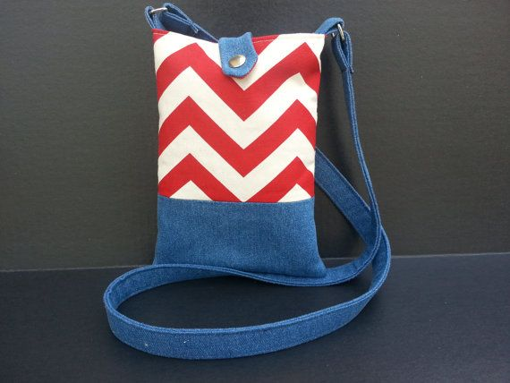 Red White and Blue Cross Body Hipster Purse by DeltownCreations, $25.00