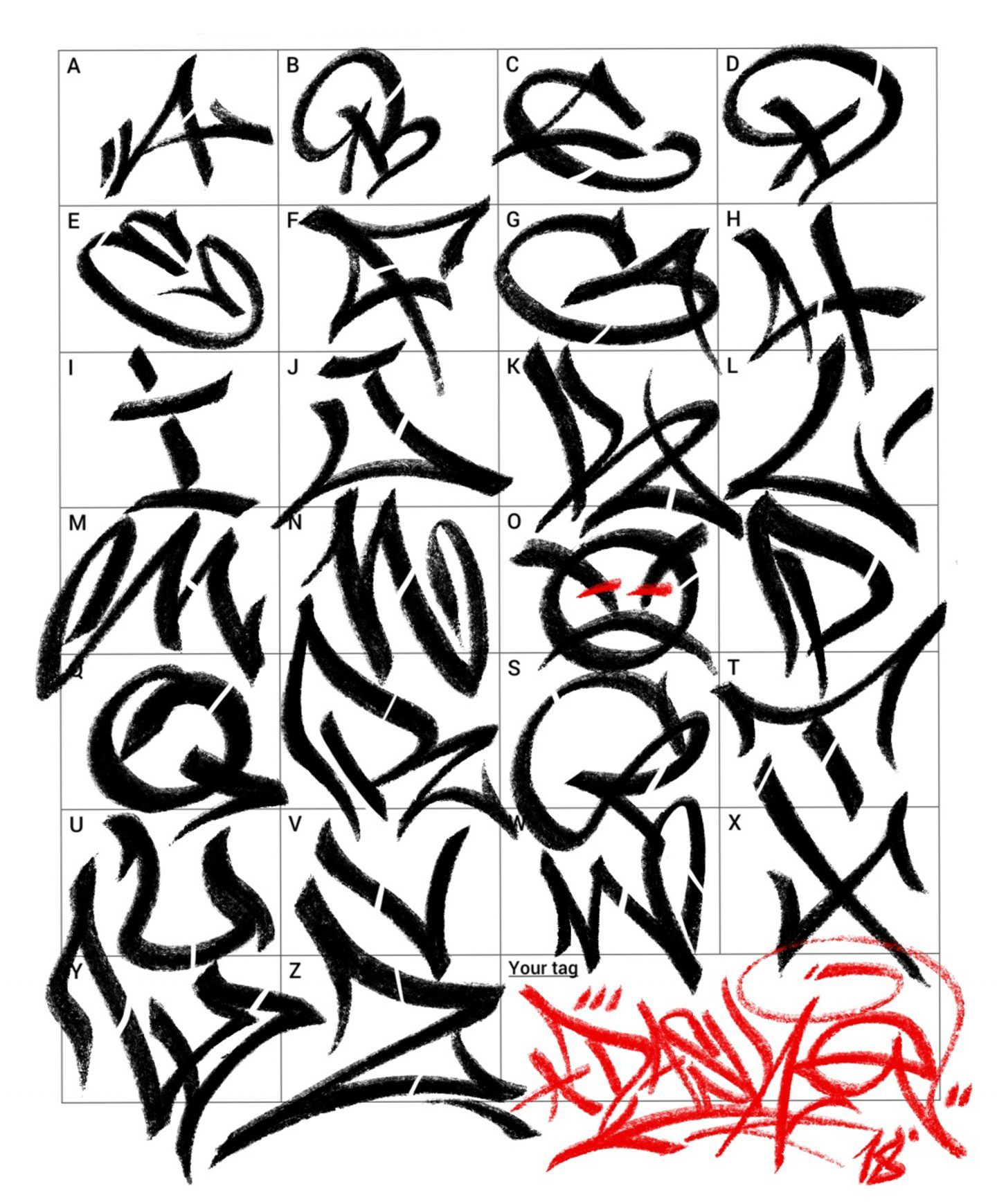 Abecedario En Graffiti Buscar Con Google Tipos De Letras