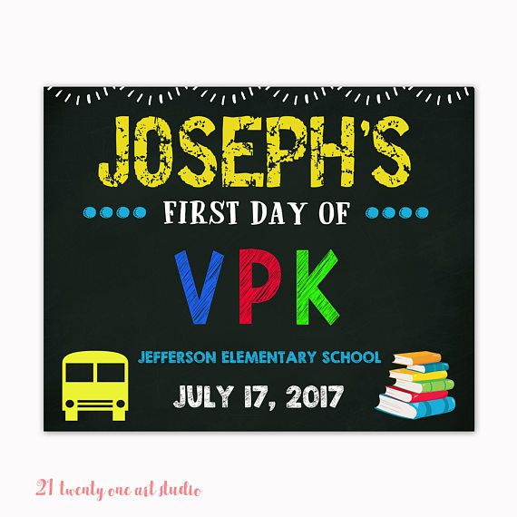 First Day of School Sign First Day of School Chalkboard Sign