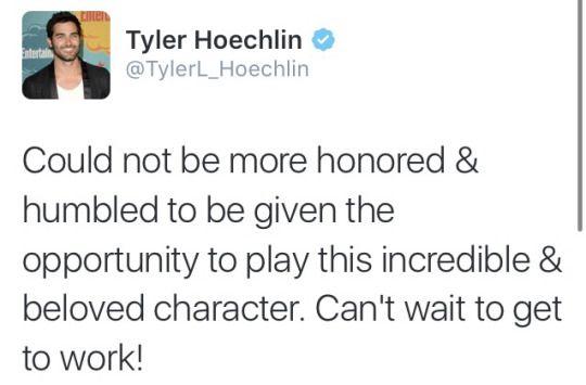 Tyler Hoechlin - new Superman