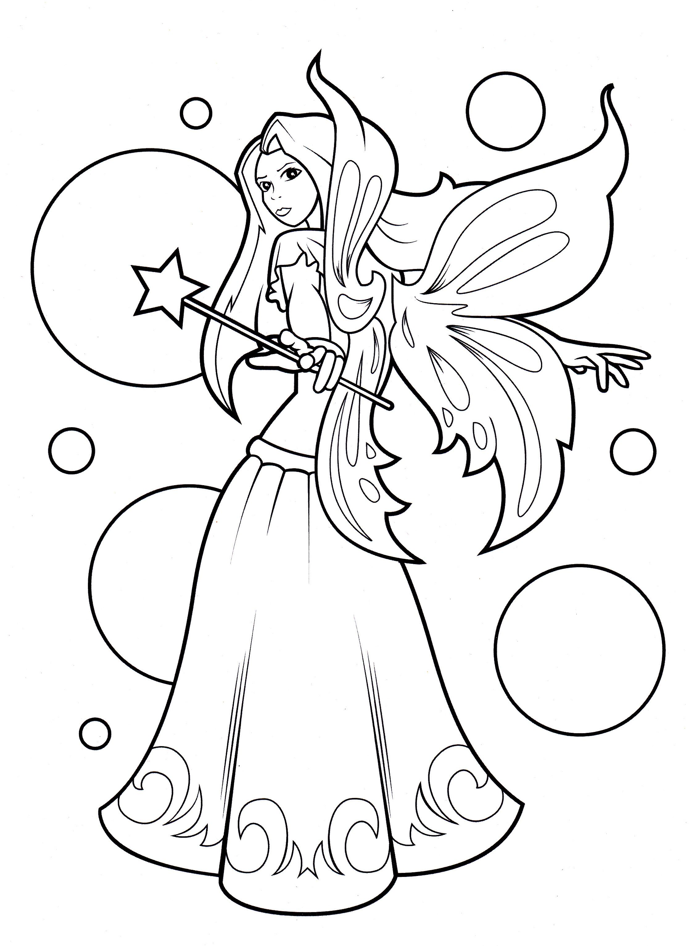 Fairy from Lilly Butterfly coloring book | Coloring pages ...