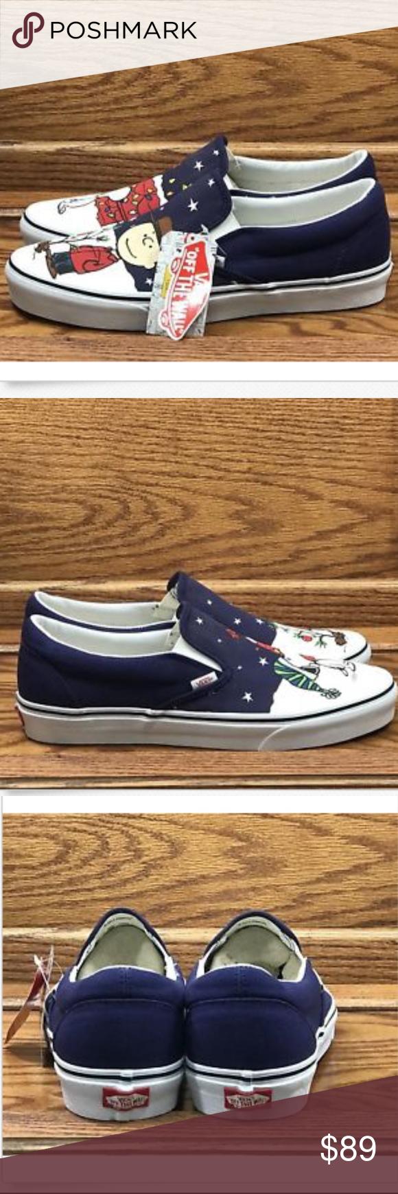 075090b61db8 Vans x Peanuts Classic Slip-On Charlie Tree Shoes Vans x Peanuts Mens  Classic Slip