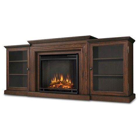 Real Flame Frederick Electric TV-Media Stand Fireplace - Chestnut Oak $980