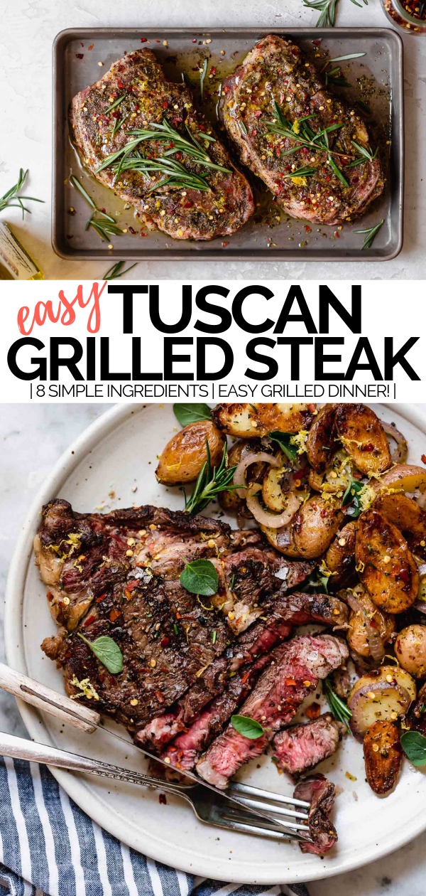 Perfect Grilled Tuscan Steak Recipe Plays Well With Butter Recipe Grilled Dinner Beef Recipes Grilled Steak Recipes