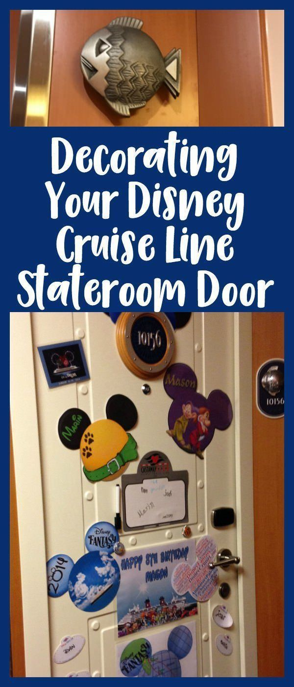 Make your disney cruise line stateroom door look awesome with these